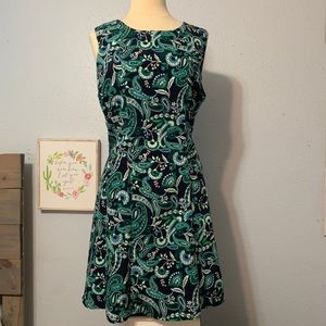 Tommy Hilfiger Green Navy Paisley Dress size 16
